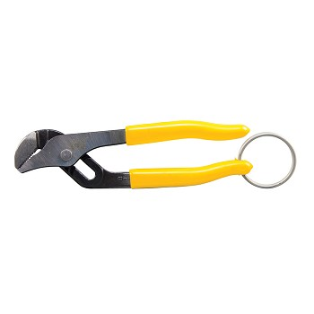 "Klein Tools D502-6TT Pump Pliers, 6"", with Tether Ring"