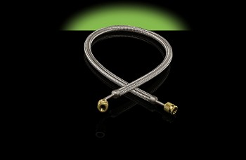 "Hilmor 3/8"" Stainless Steel Evacuation Hose - 60"""