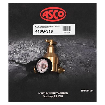 ASCO 410G-916 'MC' Regulator w/Contents Gauge and 9/16' outlet
