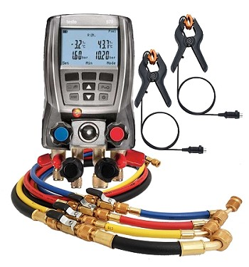 "Testo 570 Digital Manifold with 60"" Ball Valve 4-Hose Pack"