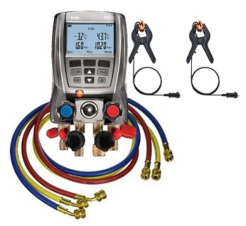 "Testo 570 Digital Manifold with 60"" 3-Hose Pack"