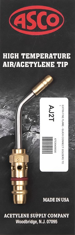 "ASCO AJ2-T High Temp Acetylene Tip - Extra Fine Flame with ""Quick Connect"""