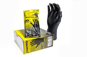 Black Mamba Powder Nitrile TorqueGrip Gloves- 10 Pack [L]