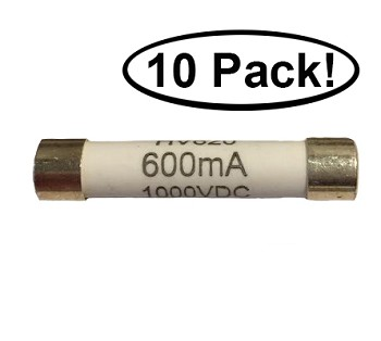 Redfish 600mA 1000V Fast Blow Fuses (10 Pack)