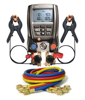 "Testo 570 with 60"" Anti-Blowback 3-Hose Pack"