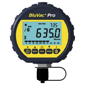 AccuTools BluVac+ Professional Digital Micron Gauge with Coupler and Bluetooth