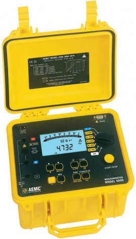 AEMC 5060 Digital Megohmmeter with Analog Bargraph and DataView Software - 5000V