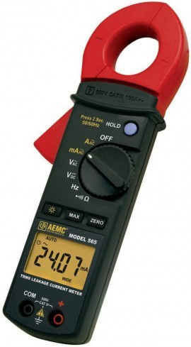 AEMC 565 True RMS Clamp-on Leakage Current Meter -  60mA-100A / 600V AC/DC