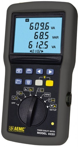 AEMC 8220 Single-Phase Power Quality Analyzer with MN93 CT - 240A