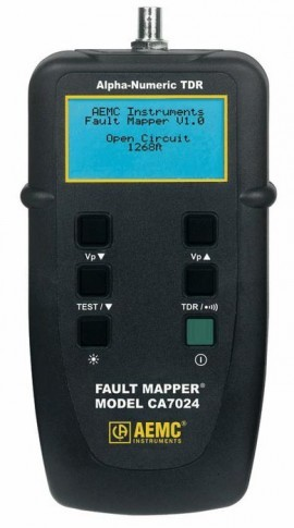 AEMC CA7024 Fault Mapper Cable Length / Fault Tester with Alpha-Numeric TDR