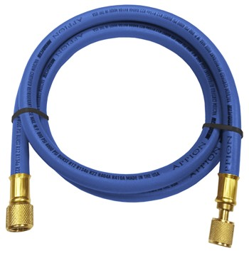 "Appion BLUE 3/8 dia hose, str 1/4"" x 45 deg 1/4"" 5 long"