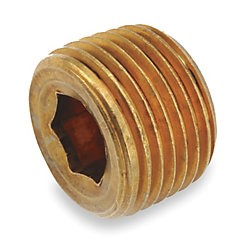 "1/4"" NPT Countersunk Brass Plug (20 pack)"