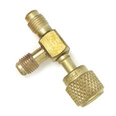 "CPS 1/4"" SAE Tee Valve Connector"