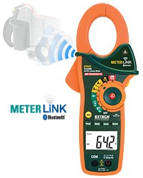 Extech 1000A AC/DC TRUE RMS Meter with IR Thermometer and MeterLinkå¨