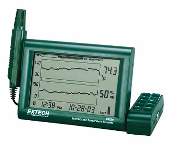 Extech Humidity+Temperature Chart Recorder with Detachable Probe
