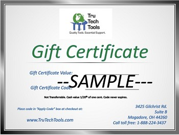 $100 Gift Certificate for use at TruTech Tools