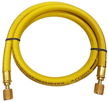 "Appion MegaFlow 6-Foot 3/8"" Dia. 1/4""FL to 1/4""FL Yellow Hose"