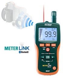 Extech Pinless Moisture Psychrometer with MeterLink®