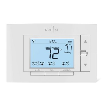 Sensi Pro Smart Thermostat  by Emerson with 5 Year Warranty - White