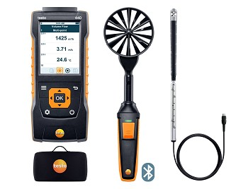 Testo 440 Air Flow ComboKit 2 (Mini Vane and Large Vane) with Bluetooth