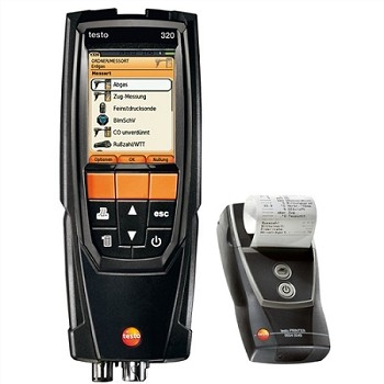 USED  Testo 320 LX Combustion Analyzer Kit with Bluetooth and Printer