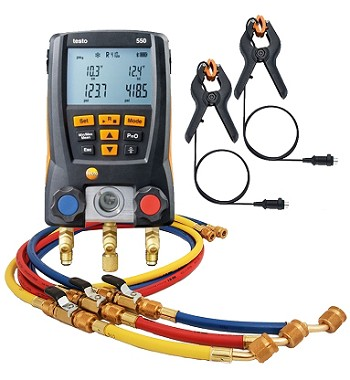 "Testo 550 Bluetooth with 60"" Ball Valve 3-Hose Pack"