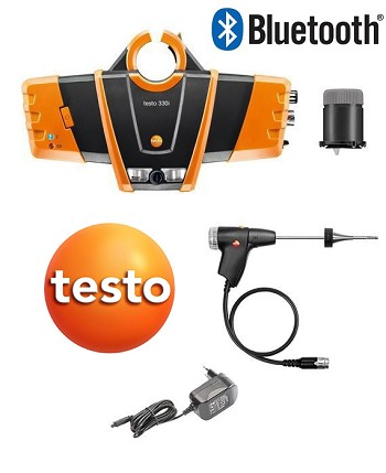 Testo 330i Kit 2 Combustion Analyzer w/ Bluetooth, O2, CO Dilution and NO