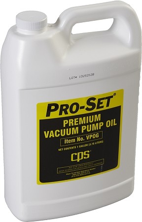 CPS VPOG Premium Vacuum Pump Oil (1 Gallon Bottle)