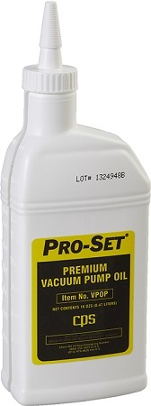 CPS VPOP Premium Vacuum Pump Oil - (1 Pint Bottle)